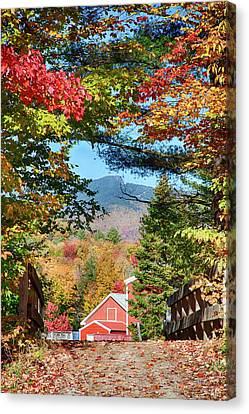 Canvas Print featuring the photograph Mount Mansfield Seen Through Fall Foliage by Jeff Folger