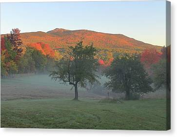 Mount Monadnock Autumn Morning Canvas Print by John Burk