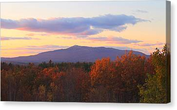 Mount Monadnock Autumn Sunset Canvas Print by John Burk