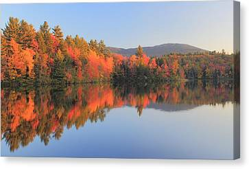 Mount Monadnock Early Autumn Reflections Canvas Print by John Burk