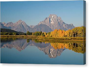 Canvas Print featuring the photograph Mount Moran by Steve Stuller