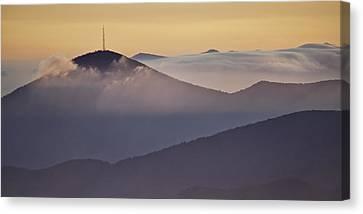 Mount Pisgah In Morning Light - Blue Ridge Mountains Canvas Print by Rob Travis