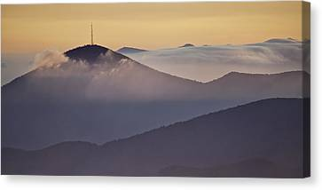 Mount Pisgah In Morning Light - Blue Ridge Mountains Canvas Print by Rob Travis