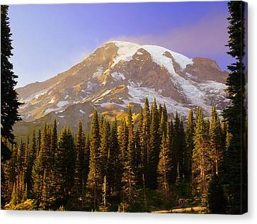 Mount Raineer 2 Canvas Print by Marty Koch