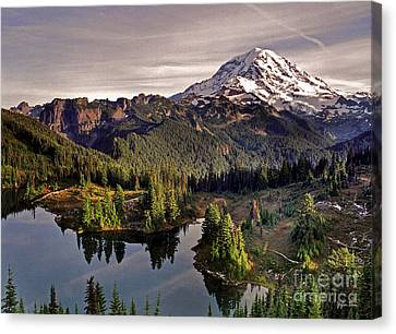 Mount Rainier And Eunice Lake From Tolmie Peak - Washington Canvas Print by Yefim Bam