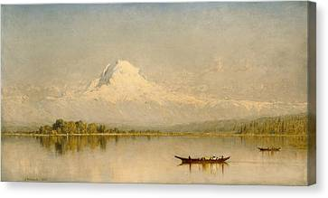 Seaside Heights Canvas Print - Mount Rainier, Bay Of Tacoma   by Sanford Robinson Gifford