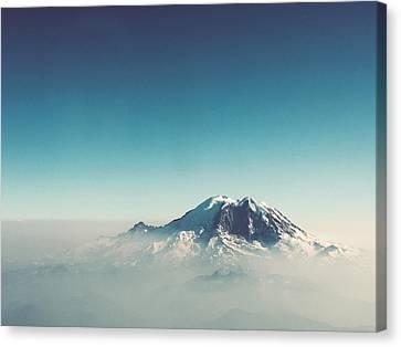 An Aerial View Of Mount Rainier Canvas Print