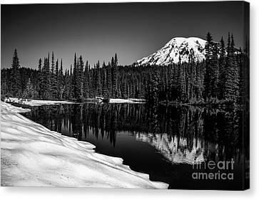 Mount Rainier Reflection Canvas Print