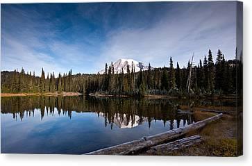 Mount Rainier Reflection Canvas Print by Mike Reid
