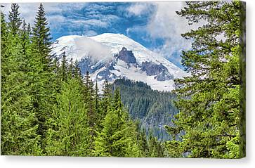 Mount Rainier View Canvas Print by Stephen Stookey