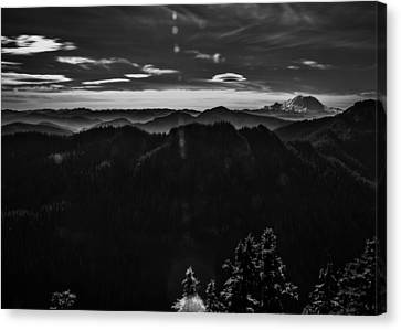 Mount Rainier With Rolling Hills Canvas Print by Pelo Blanco Photo