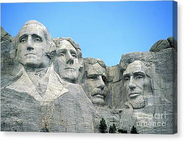 The White House Canvas Print - Mount Rushmore by American School