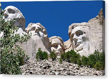 Mount Rushmore Close Up View Canvas Print