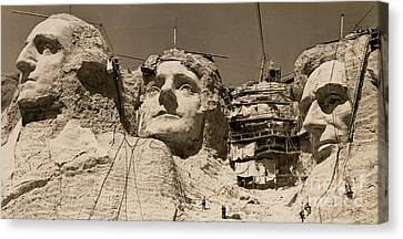 Mount Rushmore Construction  Canvas Print by American School