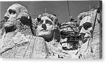Mount Rushmore In South Dakota  Canvas Print by American School