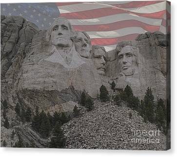 Mount Rushmore Canvas Print by Juli Scalzi
