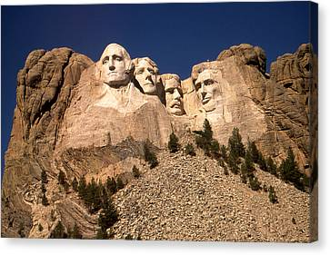 Mount Rushmore National Monument Canvas Print by Art America Gallery Peter Potter