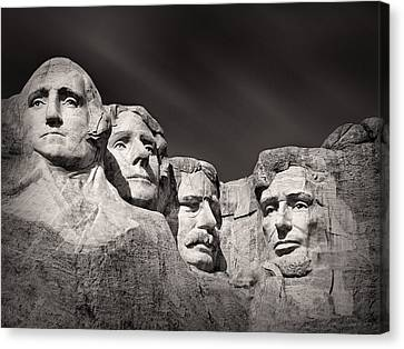 Mount Rushmore South Dakota Usa Canvas Print