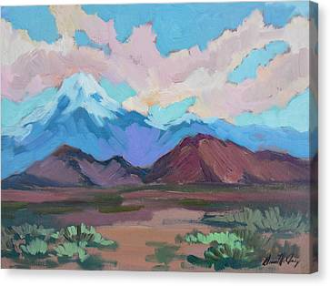 Canvas Print featuring the painting Mount San Gorgonio by Diane McClary