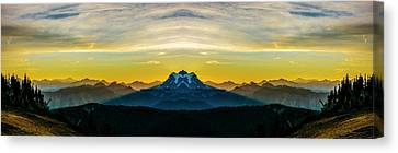 Mount Shuksan Sunrise Reflection 2 Canvas Print