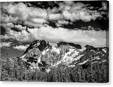 Canvas Print featuring the photograph Mount Shuksan Under Clouds by Jon Glaser