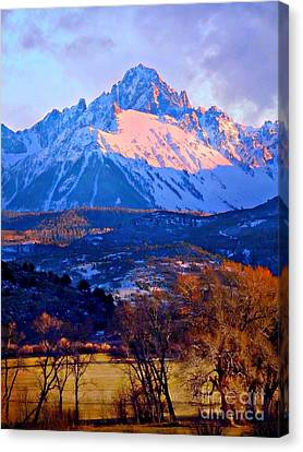 Mount Sneffels  Canvas Print by Annie Gibbons