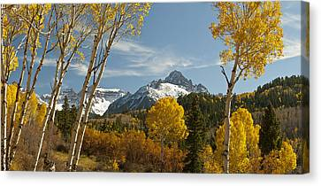 Mount Sneffels Autumn Panorama Canvas Print by Dusty Demerson