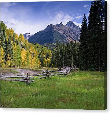 Mount Sneffels In Autumnn Canvas Print