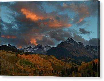 Canvas Print featuring the photograph Mount Sneffels Sunset During Autumn In Colorado by Jetson Nguyen