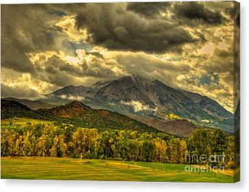 Mount Sopris Fall Morning After A Clearing Storm Canvas Print