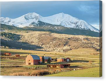 Canvas Print featuring the photograph Mount Sopris Sunrise by Eric Glaser