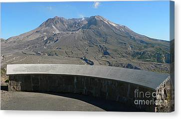 Canvas Print featuring the photograph Mount St. Helen Memorial by Larry Keahey