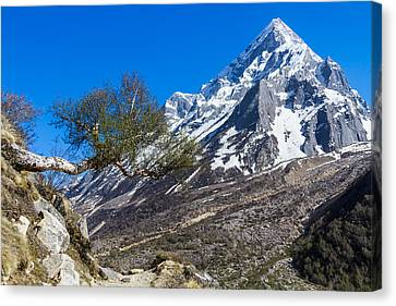 Ganges Canvas Print - Mount Sudarshan - Indian Himalayas by Nila Newsom