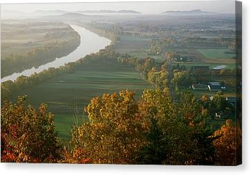 Mount Sugarloaf Autumn Morning Canvas Print by John Burk