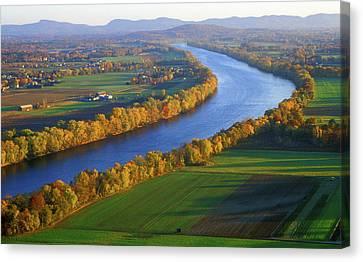 Mount Sugarloaf Connecticut River Canvas Print by John Burk