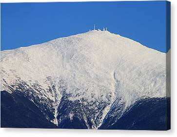Mount Washington Summit And Weather Observatory Canvas Print by John Burk