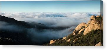 Mount Woodson Clouds Canvas Print by William Dunigan