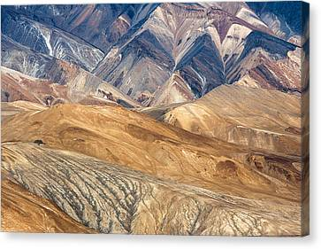 Mountain Abstract 4 Canvas Print by Hitendra SINKAR