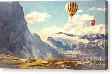 Mountain Air Balloons Canvas Print