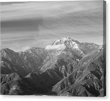 Mountain And Clouds Canvas Print