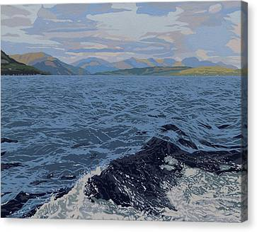 Mountain And Waves Canvas Print
