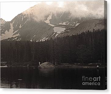 Canvas Print featuring the photograph Mountain Anglers by Thomas Bomstad