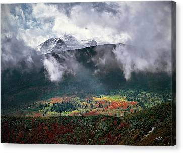 Mountain Autumn Canvas Print by Leland D Howard