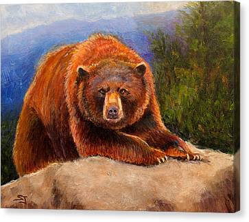 Mountain Bear Canvas Print by Susan Jenkins