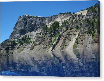Canvas Print featuring the photograph Mountain Blue by Laddie Halupa