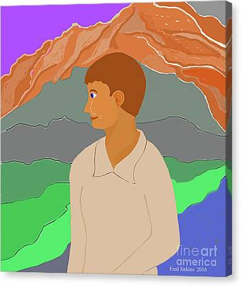 Mountain Boy Canvas Print by Fred Jinkins