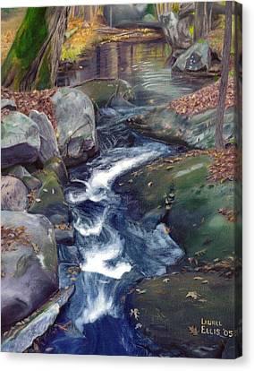 Mountain Brook Iv Canvas Print by Laurel Ellis