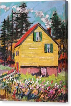 Mountain Cabin Canvas Print by John Williams
