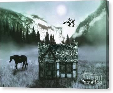 Mountain  Cabin Canvas Print