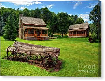 Mountain Cabin Canvas Print - Mountain Cabin - Rural Idaho by Gary Whitton